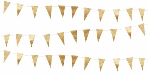 DELIGHT DEPARTMENT Girlande Mini flag kleine goldene Flaggen