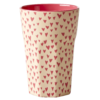 Melamine Cup / Becher hoch Small Hearts Print - Two Tone