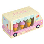 REX LONDON Set mit 6 Duftenden Radiergummis Ice Cream