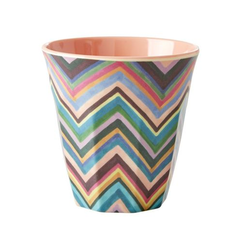 RICE Melamin Cup / Becher Two Tone - Zig Zag medium