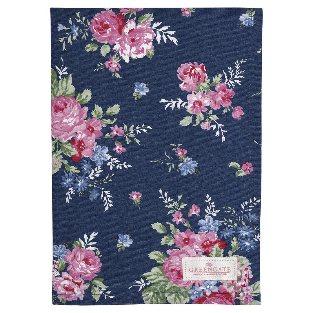 GREENGATE Geschirrtuch Rose dark blue