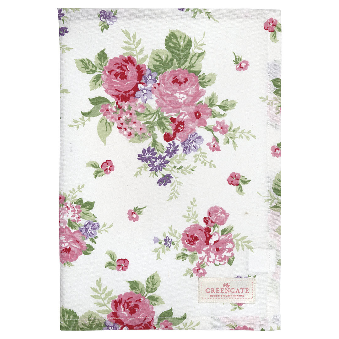 GREENGATE Geschirrtuch Rose white