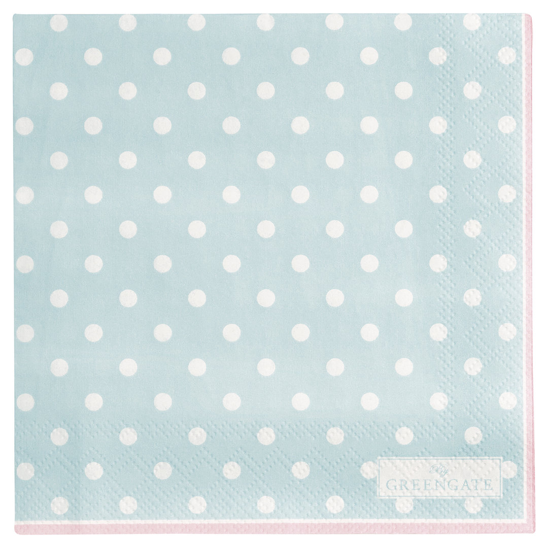 GREENGATE Serviette Punkte pale blue small 20 Stk.