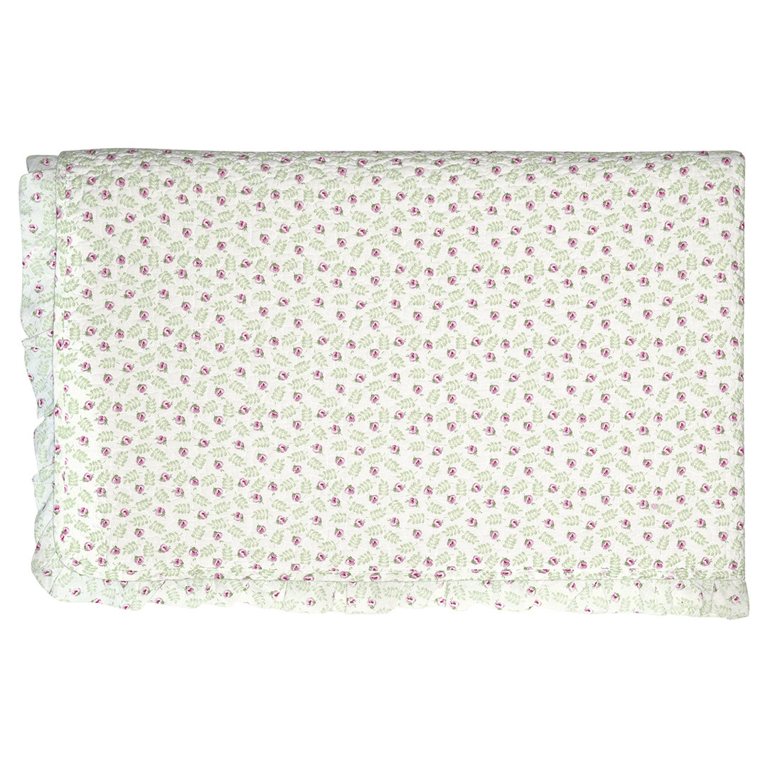 GREENGATE Quilt Lily petit white w/frill 100x140cm