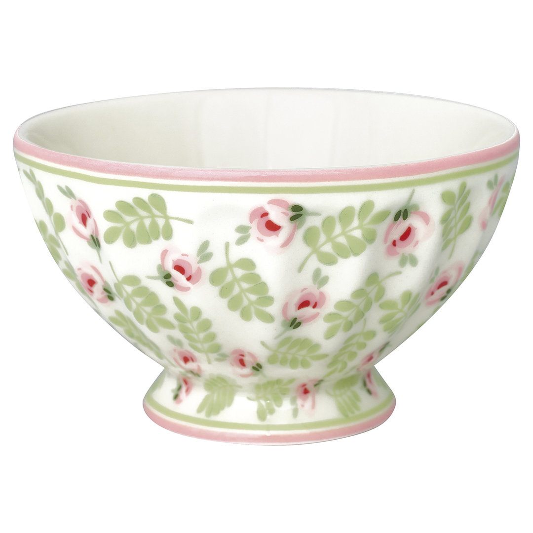 GREENGATE Schale French bowl medium Lily petit white