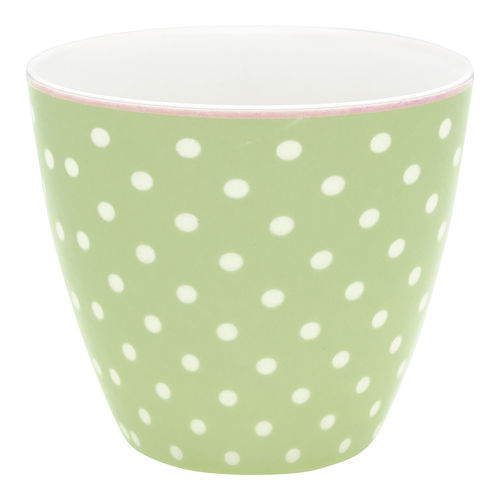 GREENGATE Latte cup / Becher Spot pale green