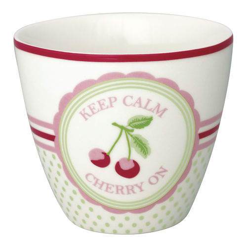 GREENGATE Latte cup / Becher Cherry mega white