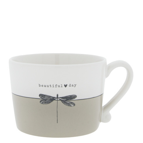 BASTION COLLECTIONS Tasse White/Beautiful Day 10x8x7cm
