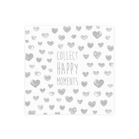 "BASTION COLLECTIONS Serviette ""Collect Moments"" 20 Stk. 12,5x12,5cm"