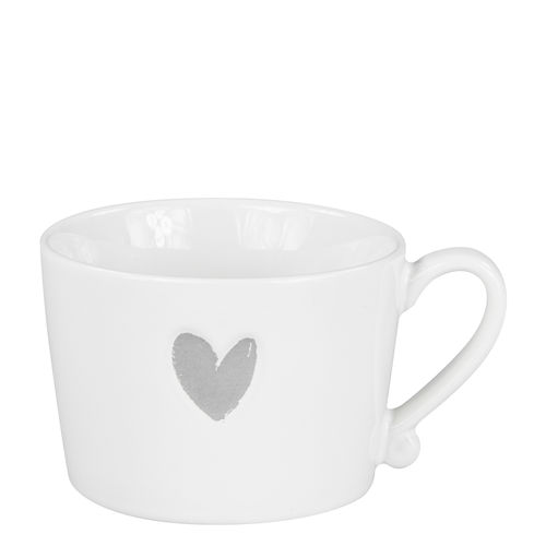 BASTION COLLECTIONS Tasse White/Heart in Grey