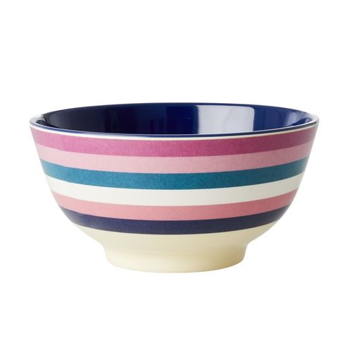 RICE Melamin Bowl / Schale Stripe Print - Two Tone medium