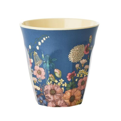 RICE Melamin Cup / Becher Flower Collage Print medium