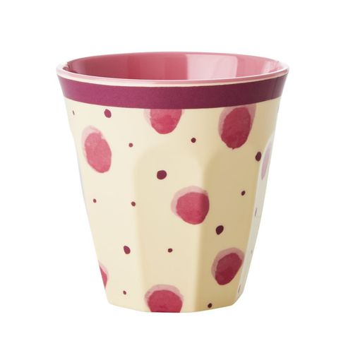 RICE Melamin Cup / Becher Pink Watercolor Splash Print - Two Tone medium