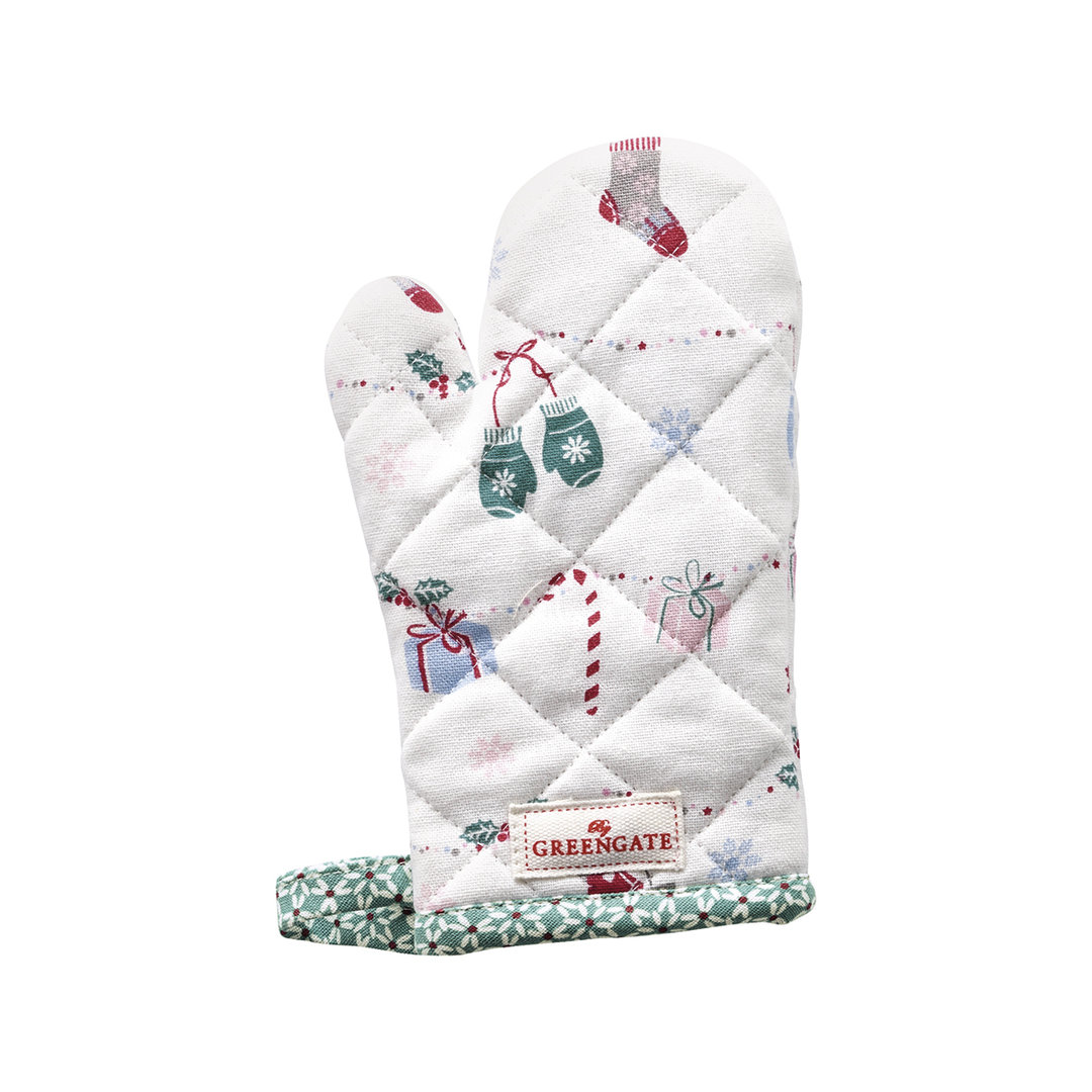GREENGATE Ofenhandschuh f. Kinder Jingle bell white