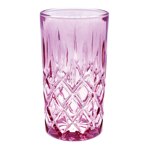 GREENGATE Wasserglas Cutting plum large