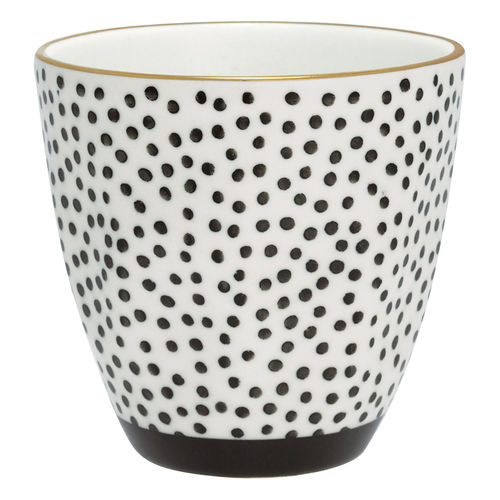 GREENGATE Tasse / Latte Cup Dot black w/gold