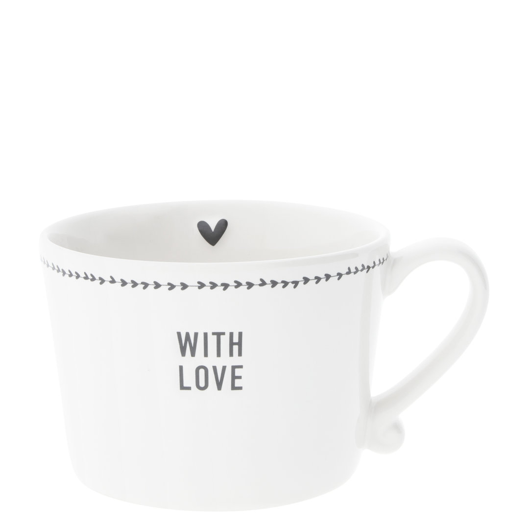 BASTION COLLECTIONS Tasse  white With Love in Black10x8x7cm