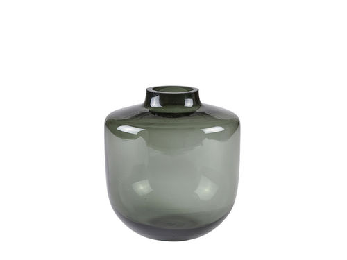 VILLA COLLECTION Vase 15 x 16 cm graues Glas