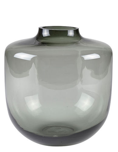 VILLA COLLECTION  Vase 20 x 21 cm graues Glas
