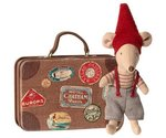 MAILEG Maus / Christmas mouse in suitcase, Little brother