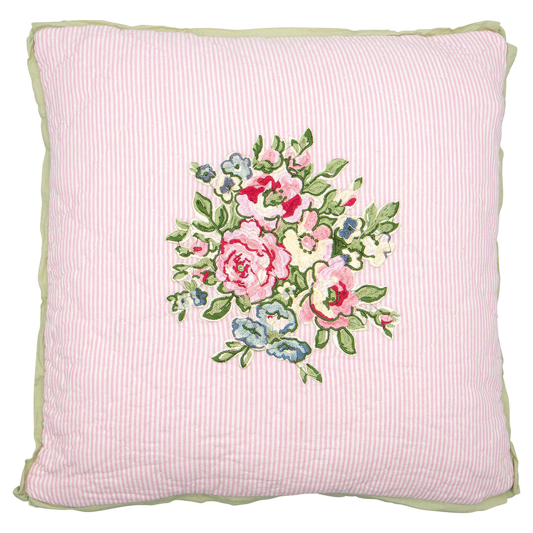 GREENGATE Kissenhülle Franka pale pink m. Stickerei/embroidery 40x40cm