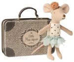MAILEG Little Miss Mouse /little sister in suitcase