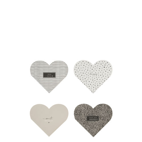 BASTION COLLECTIONS Notizblock Heart 13x11