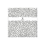 BASTION COLLECTIONS Serviette klein White/Bl. dots Smile 20 Stk. 12,5x12,5cm