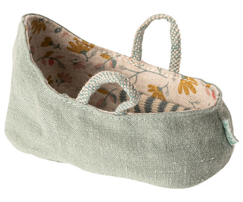 MAILEG Babykorb /Carry cot, My - dusty green