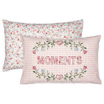 GREENGATE Kissenhülle Moments pale pink w/embroidery 30x50cm