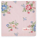 GREENGATE Serviette Roberta pale pink mit Stickerei