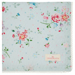 GREENGATE Serviette Belle pale blue mit Stickerei