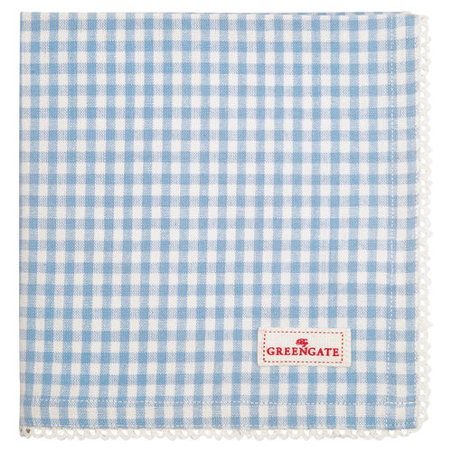 GREENGATE Serviette Vivi pale blue mit Stickerei