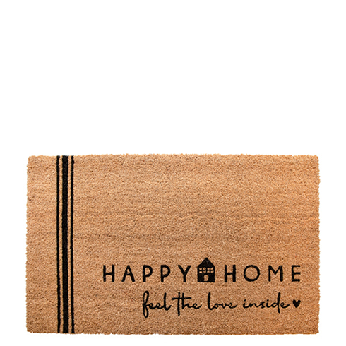 BASTION COLLECTIONS Fußmatte 45x75 cm Happy Home